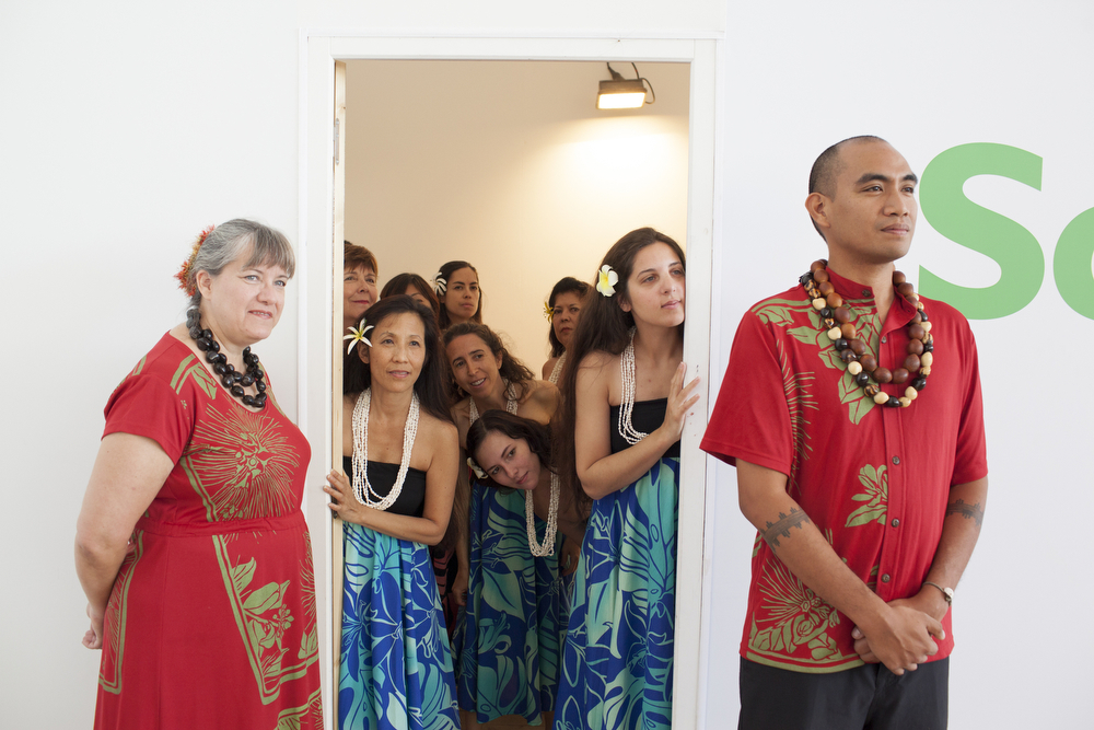 A group of participants at the Festival des Arts d'Hawai'i