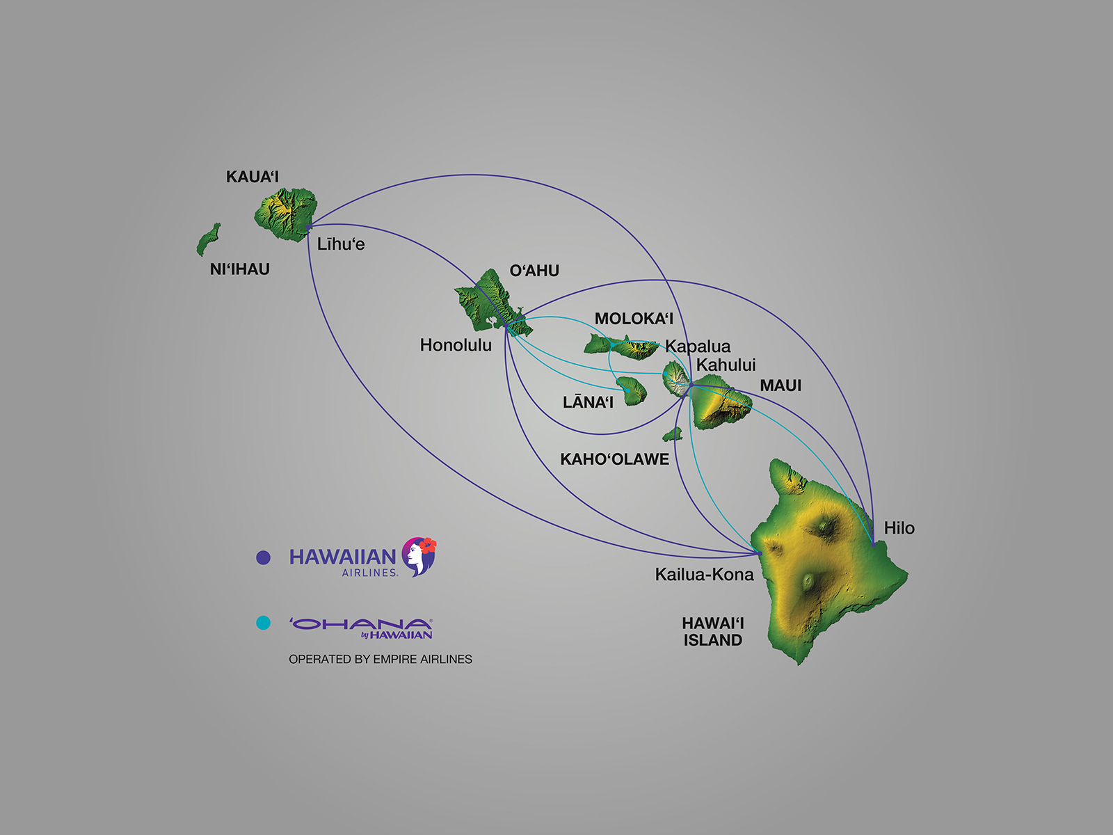Where we fly hawaiian airlines hawaii routes sciox Choice Image