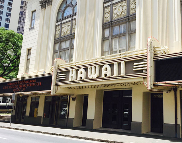 exterior of hawaii theatre