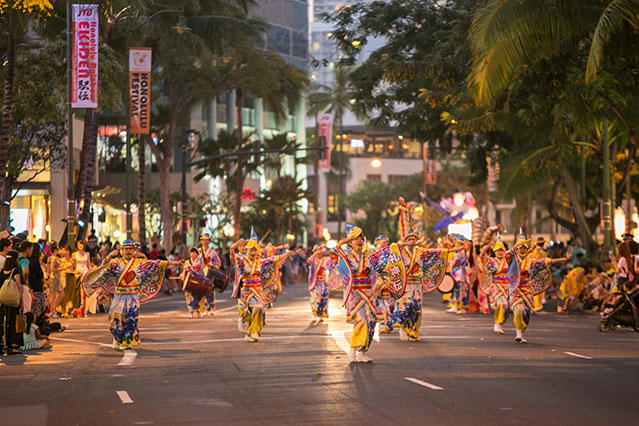 Honolulu festival parade