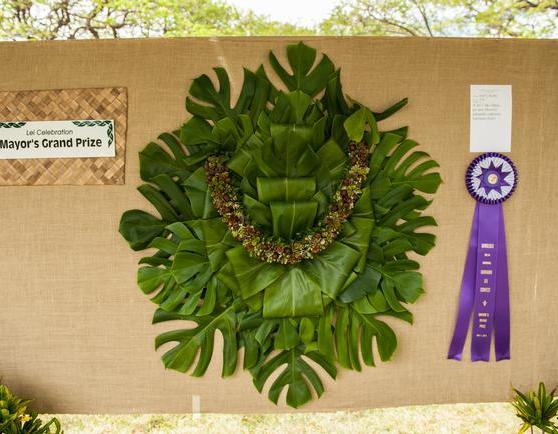 Winning ti leaf lei