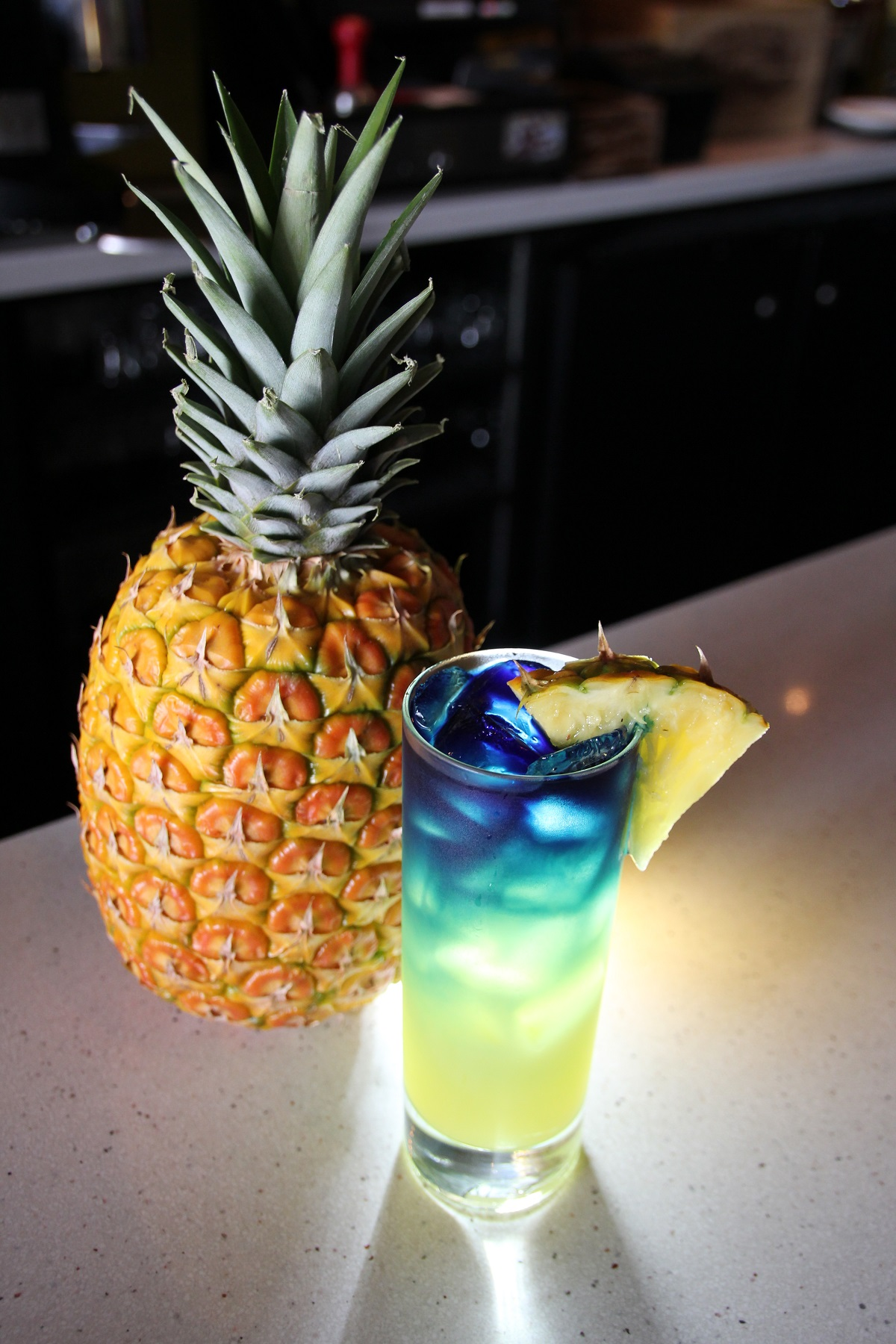 Colorful cocktail with pineapple