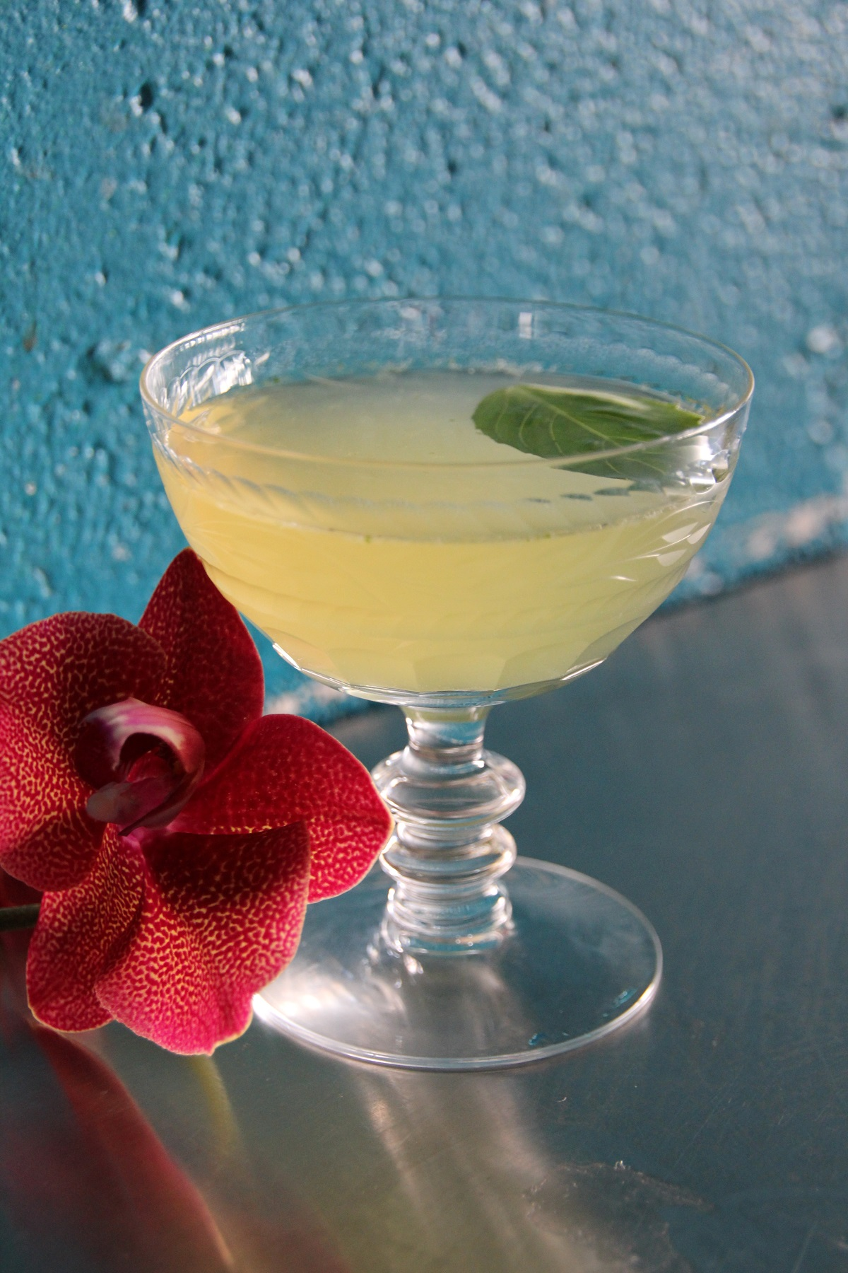 Cocktail with flower