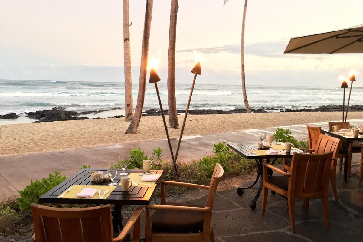 Savor a delicious breakfast buffet oceanside at the ULU Ocean Grill.