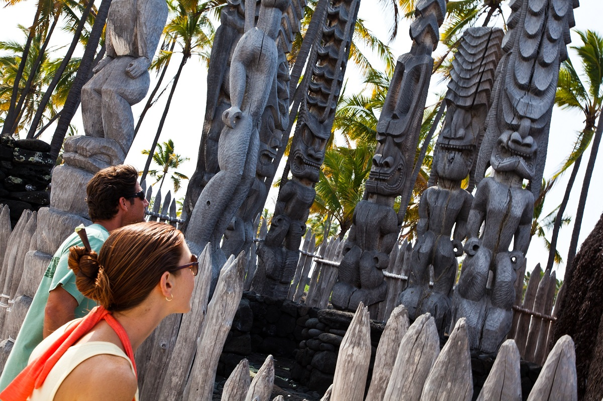 Looking at carvings
