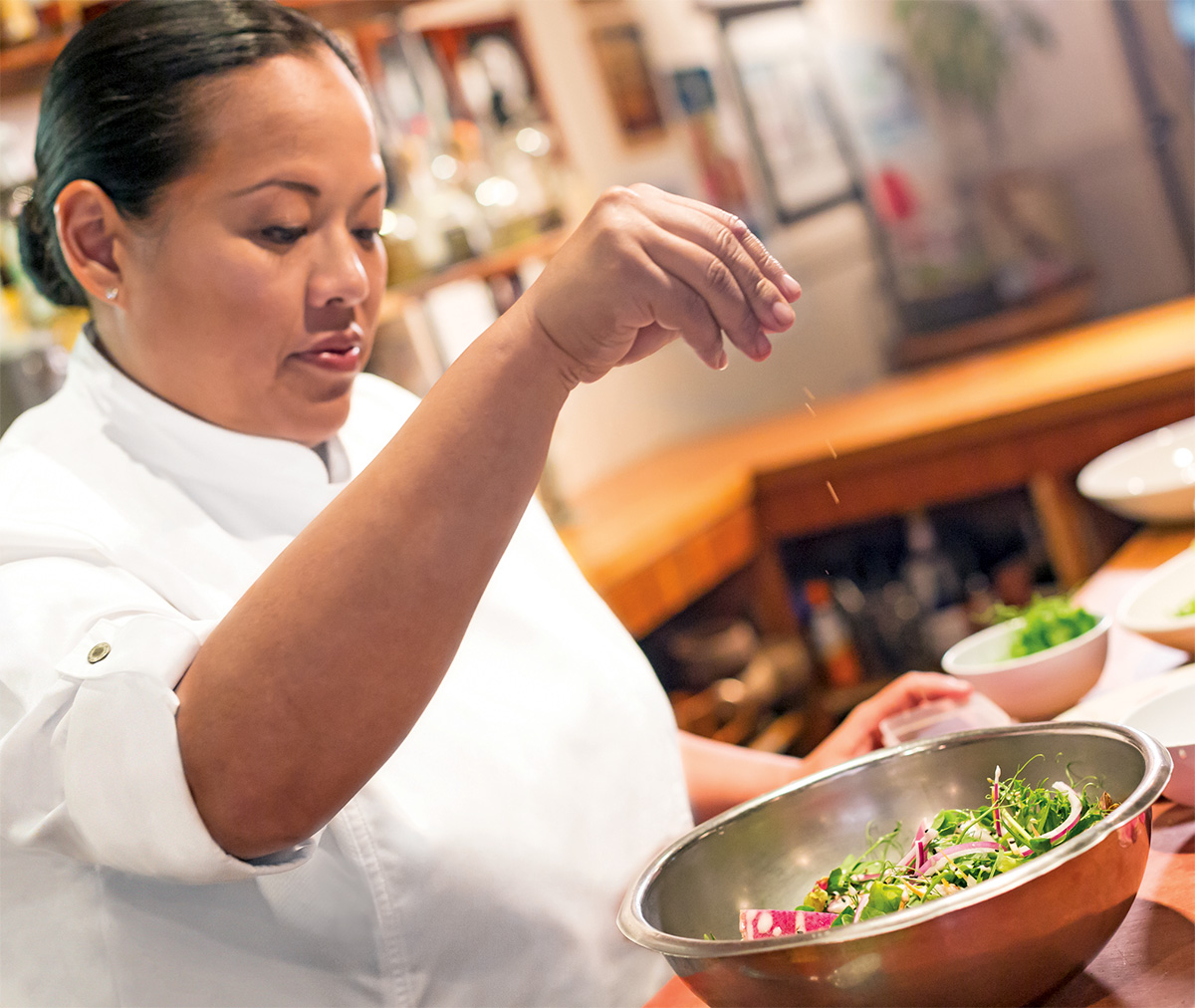 Hawaiian Airlines Executive Chef Lee Anne Wong is the chef and owner of Koko Head Cafe in Honolulu, Hawaii.