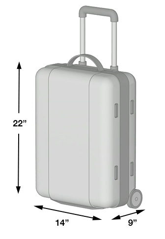 how to measure carry on baggage